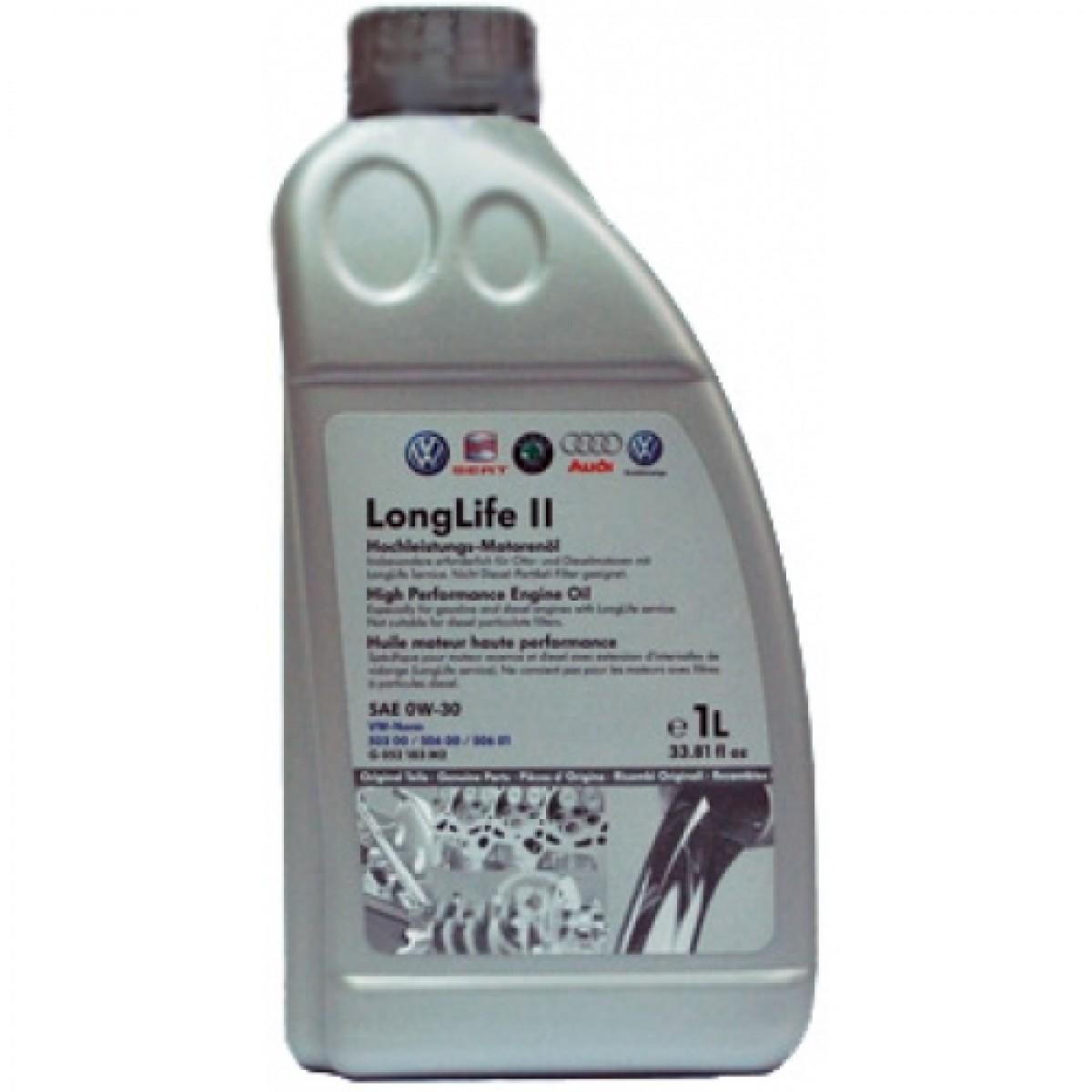 моторное масло volkswagen longlife ii 0w-30